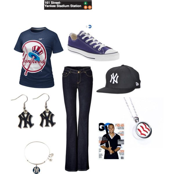 """The Yaaaankees Win!!!!"" by mollylsanders on Polyvore"