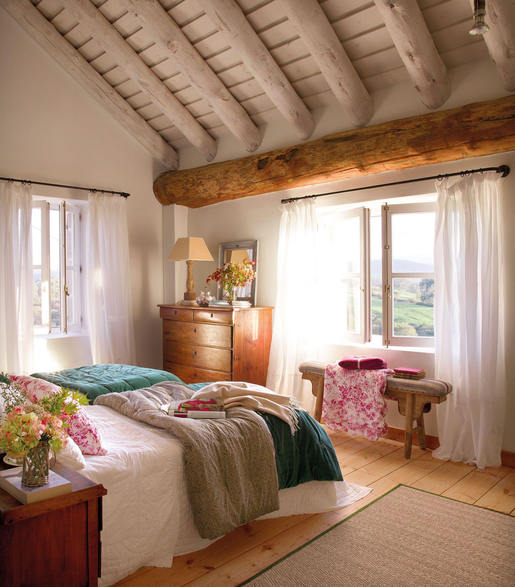 15 dormitorios rústicos decorativos y con buenas ideas ...