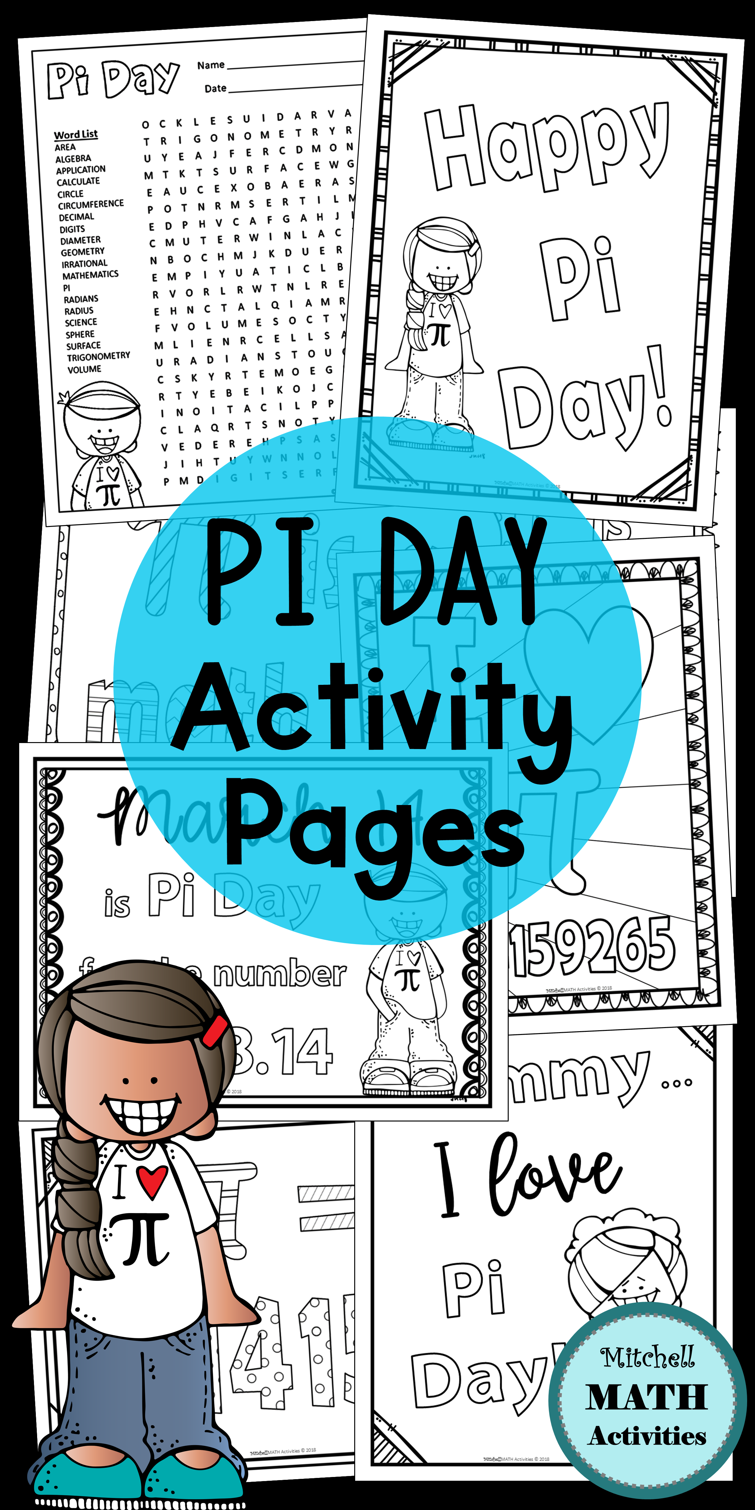 Pi Day Coloring Pages And Measuring Activity In