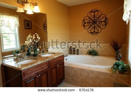 How To Decorate Around The Jacuzzi And Maybe Redo The Downstairs Bath Floor Gorgeous