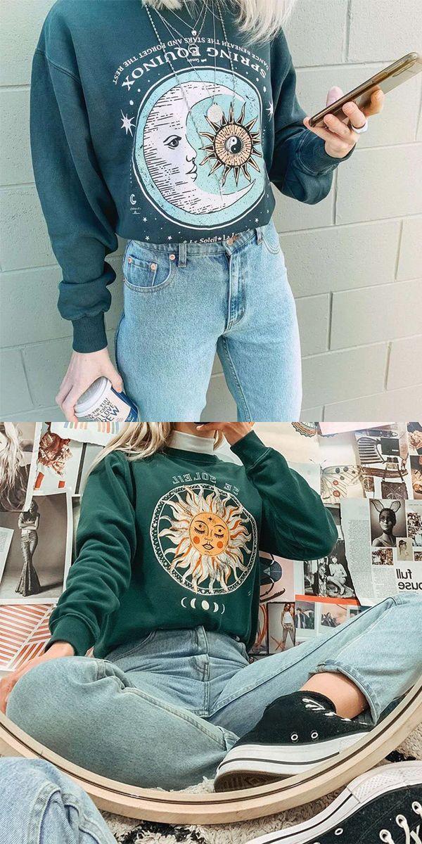 Green Vintage Sweatershirt