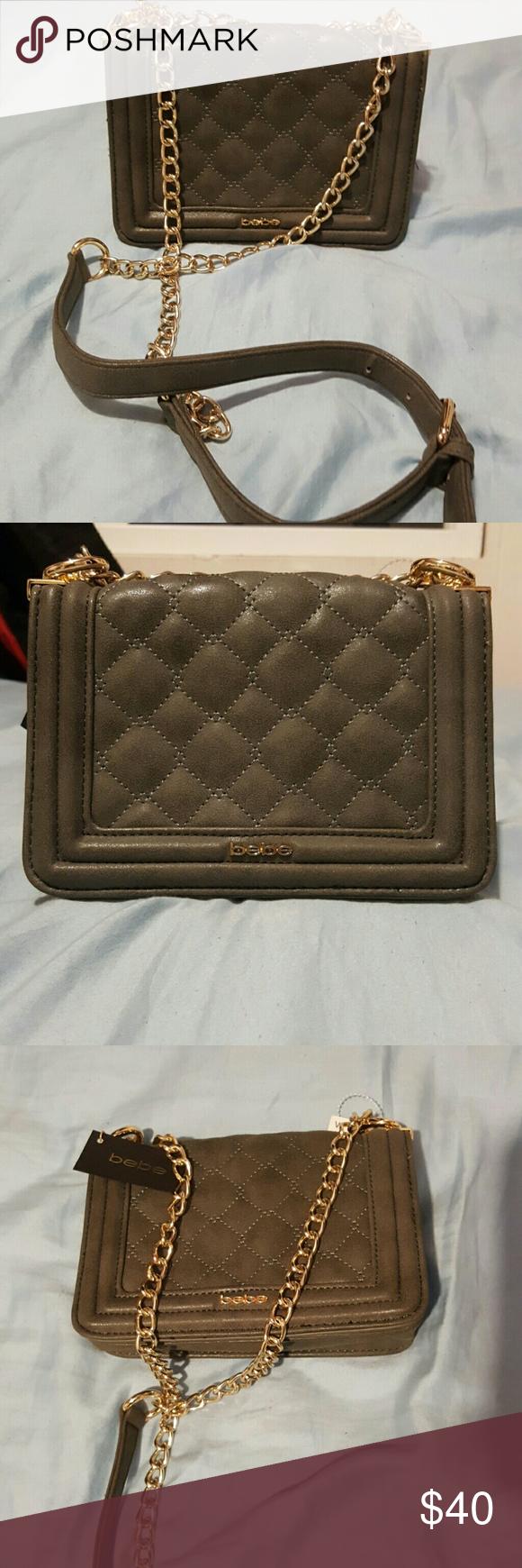 60a567c8a2 Bebe crossbody purse Bebe gray crossbody purse. Gold adjustable chain  strap. Super cute little bag. bebe Bags Crossbody Bags