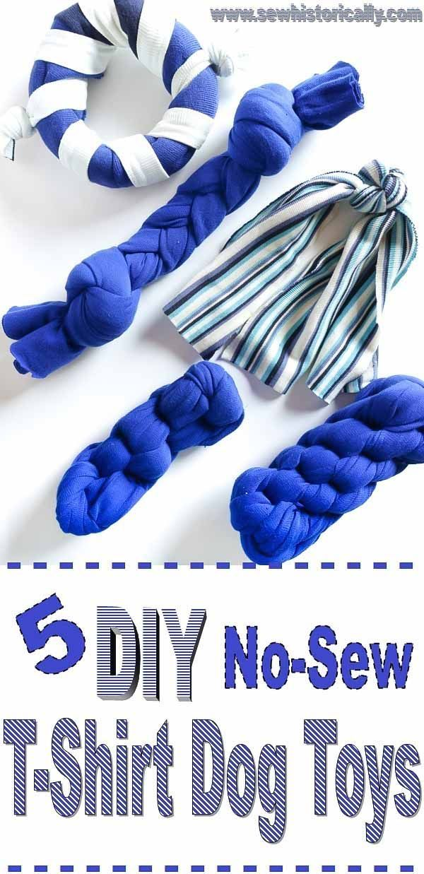 Photo of 5 Different DIY No-Sew T-Shirt Dog Toys – Sew Historically