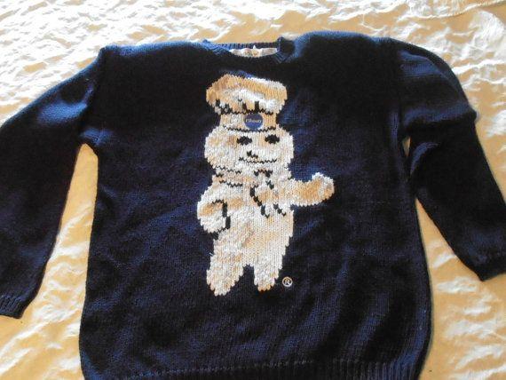 Womens Pillsbury Dough Boy Sweater M Excellent Poppin fresh Rare