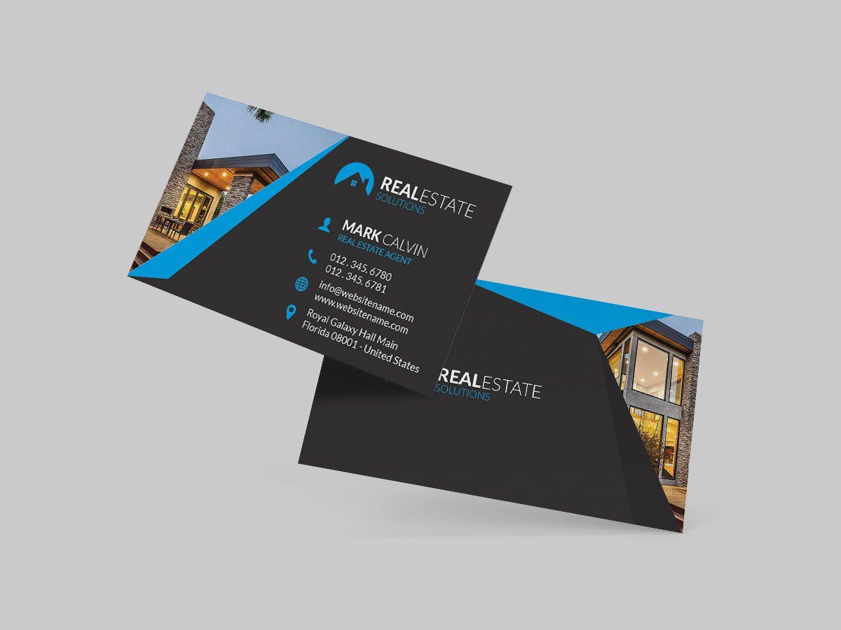 Elegante Wirkliche Anwesen Geschäfts Karten Ideen Mit Karte