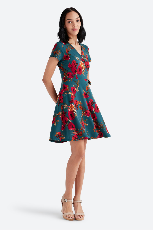 29++ Faux wrap dress information