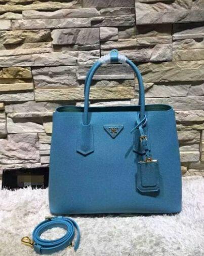 ... purchase prada galleria 2016 prada double bag in turquoise aquamarine  saffiano cuir leather tote 95dc3 3258b 99be39e5c0e8d