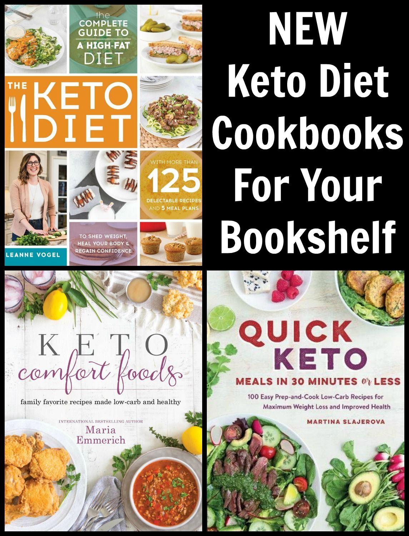 New Keto Cookbooks For Your Bookshelf Inspiration For Your Next Keto Cookbook Keto Cookbook Keto Recipe Book Vegan Keto Recipes
