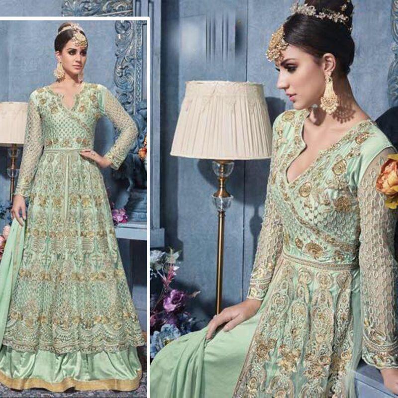 Bollywood Designer Indian Pakistani Wedding Party New Anarkali Gown ...