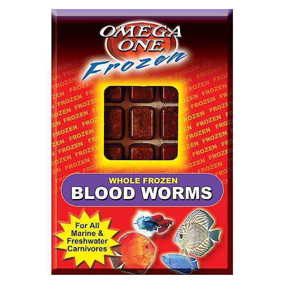 Omega™One Frozen Bloodworms Fish recipes, Food topper