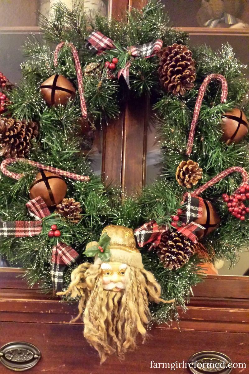 Diy Vintage Dollar Store Christmas Wreath | Dollar Store