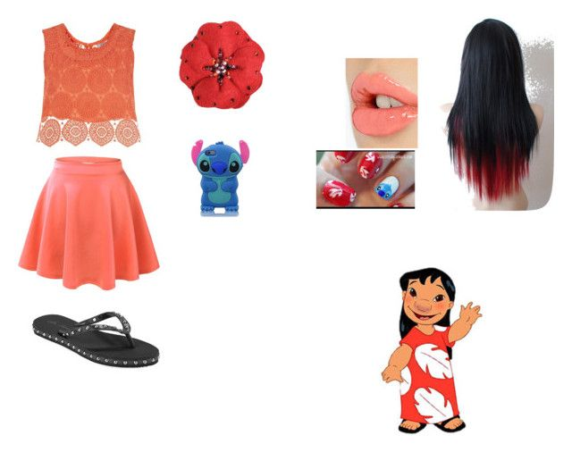 """""""Teenage Lilo"""" by wolfschaffer on Polyvore featuring Isa Tapia, Related, Charlotte Tilbury, Tarina Tarantino, disney, Lilo and disneycharacter"""