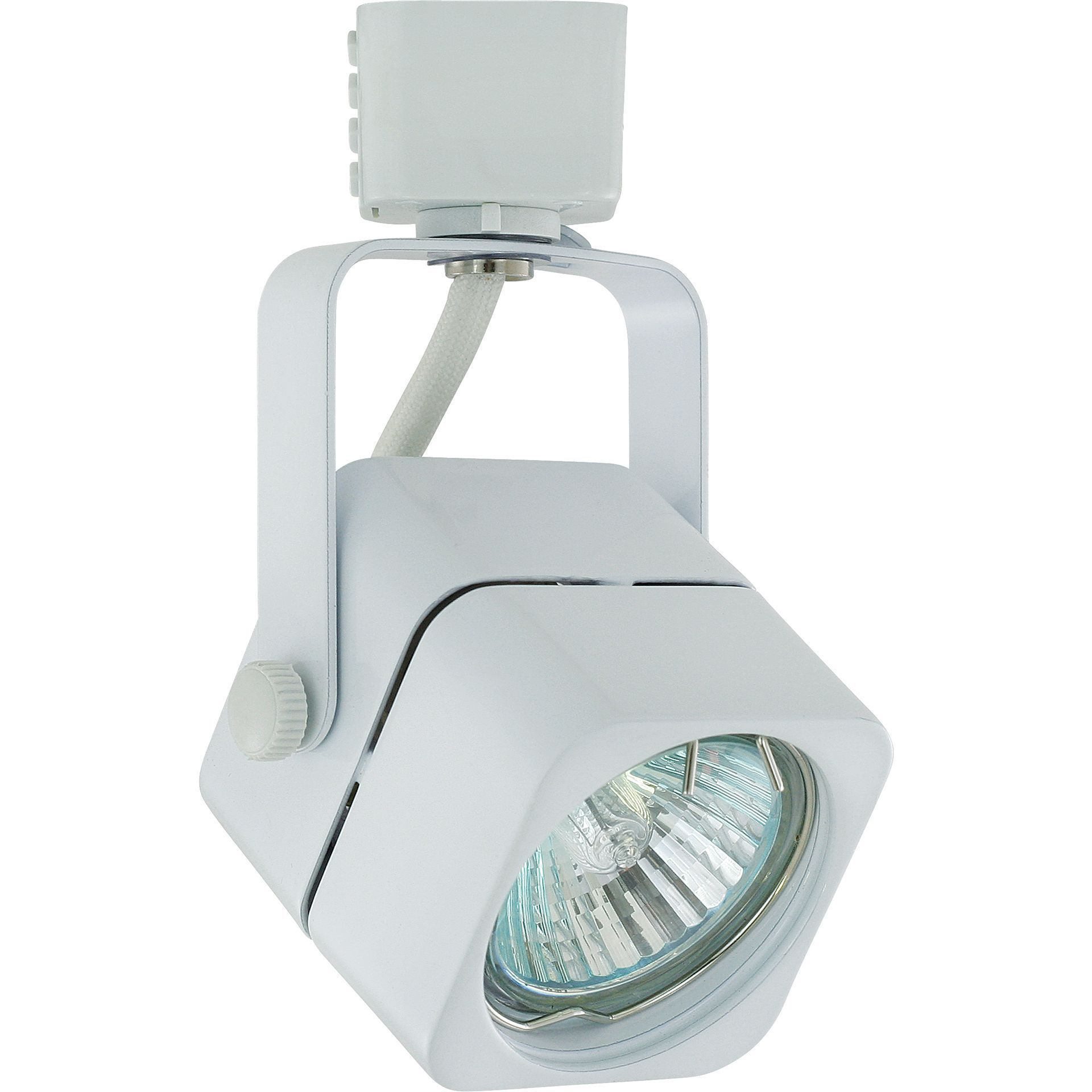 Liteline Corporation 71250 90121 3 White Aluminum Apollo Track Lighting Fixture Lights