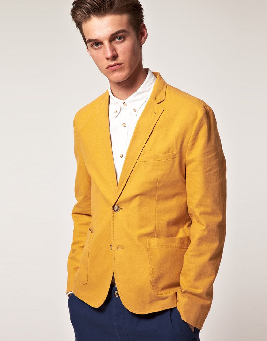 Collection Mens Yellow Blazer Pictures - Reikian