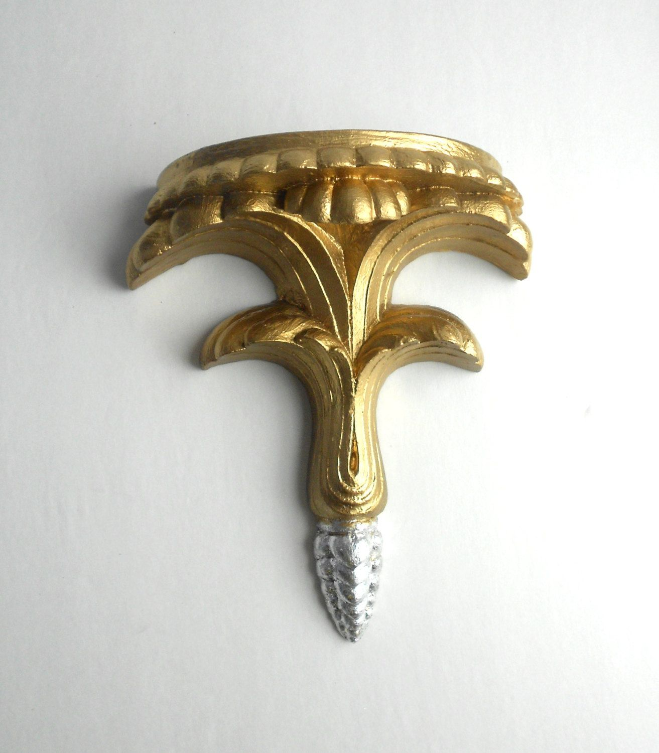 7x6x312 decorative pedestal sconcegold wall sconce shelf 7x6x312 decorative pedestal sconcegold wall sconce amipublicfo Gallery