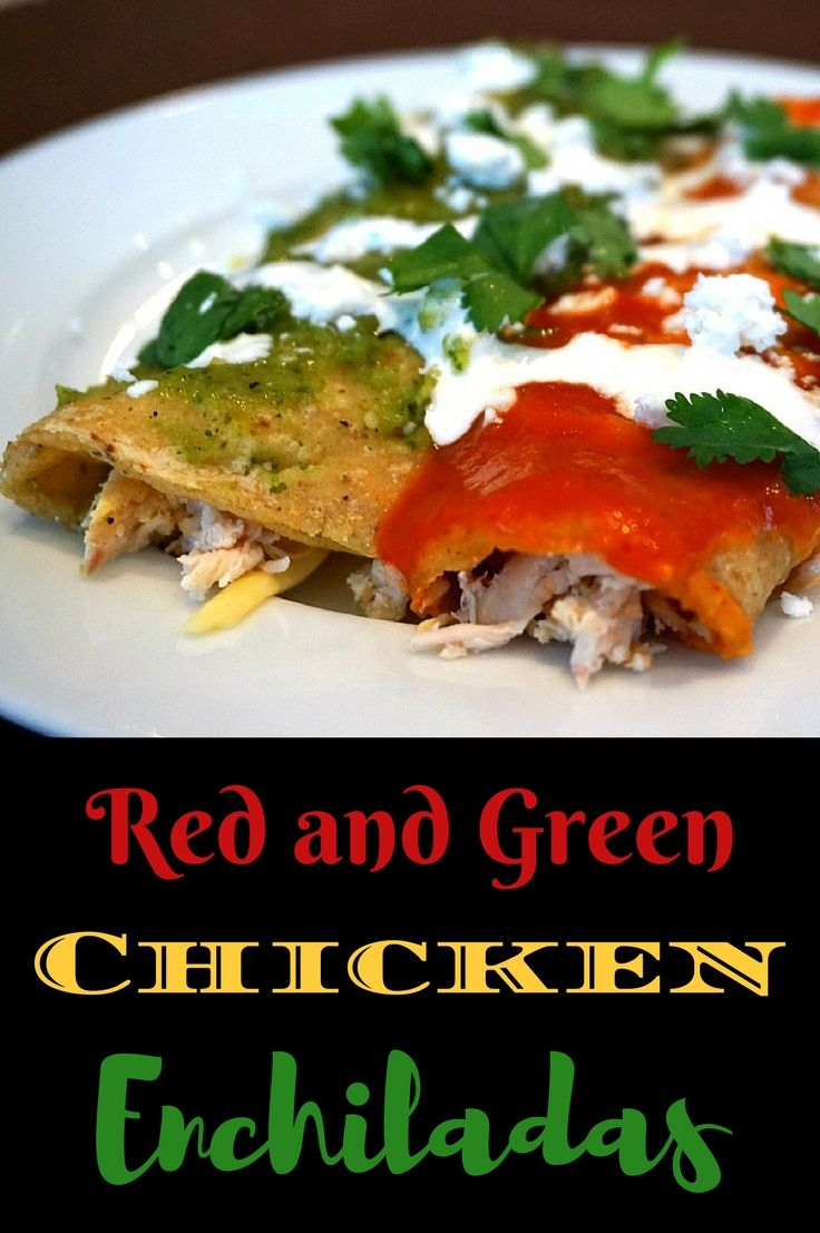 Red and green chicken enchiladas recipe food recipes and red and green chicken enchiladas recipe food recipes and international food forumfinder Choice Image