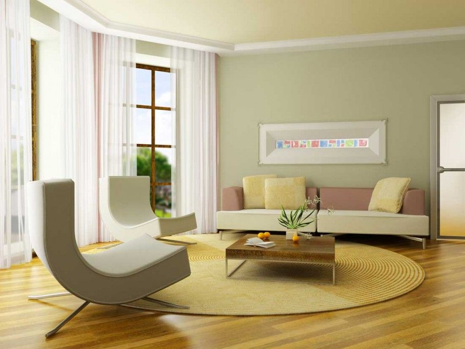 Decoration Yellow Ceiling Mixed With Grey Interior Paint Ideas For Nice Minimalist Living Room Layout