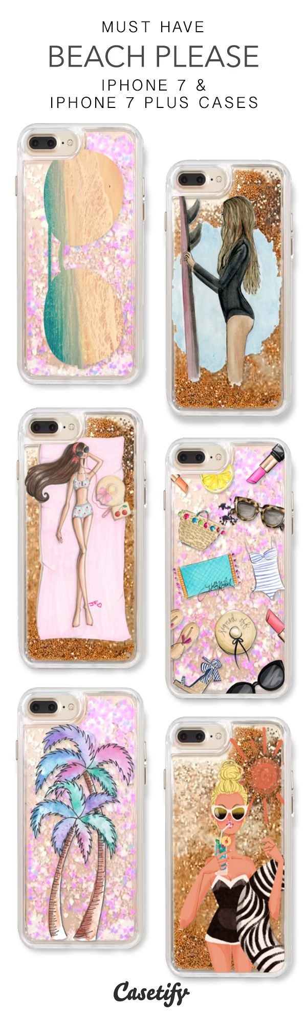 Must Have Beach Please iPhone 7 Cases & iPhone 7 Plus Cases. More glitter iPhone case here > https://www.casetify.com/en_US/collections/iphone-7-glitter-cases#/