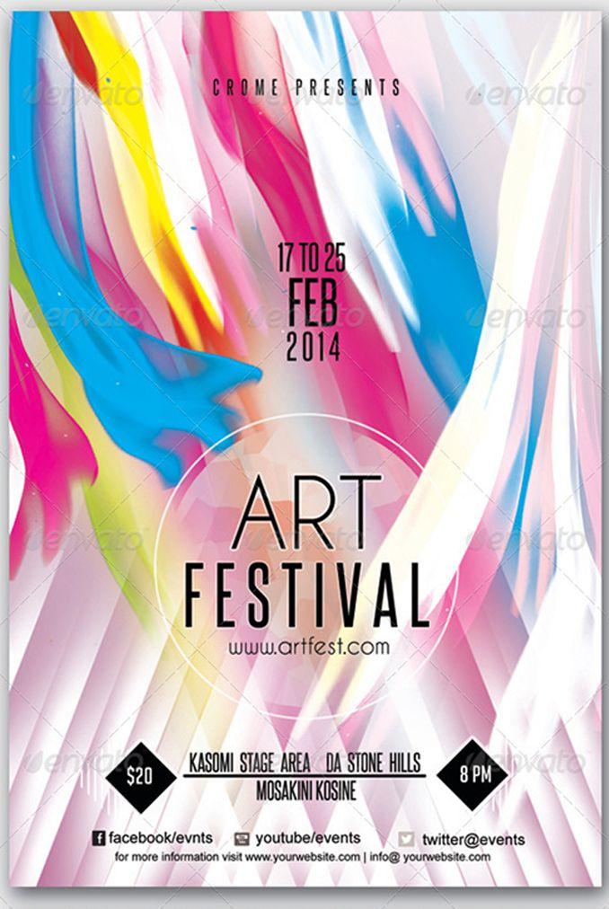 flyer for art festival psdflyers pinterest web design