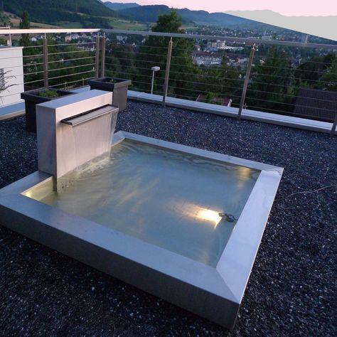 Edelstahlbrunnen von LHeinen Draußen Pinterest Water features - reihenhausgarten und pool