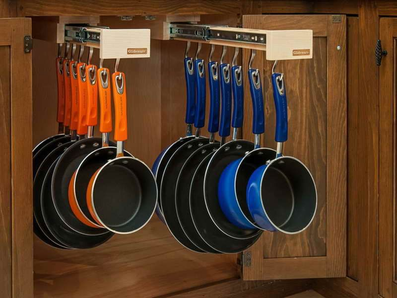 Smart And Stylish System Pots And Pans Storing Ideas