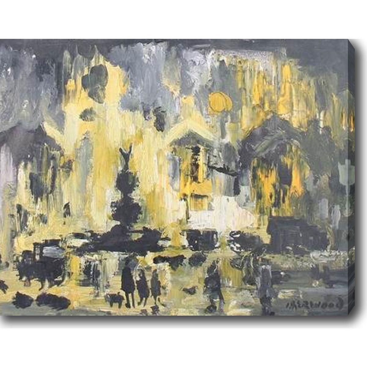 li>Title: Yellow and Grey</li><li>Product type: Gallery-wrapped ...