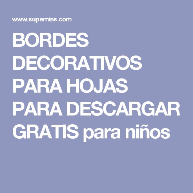 Descargar bordes decorativos para word gratis - Imagui ...