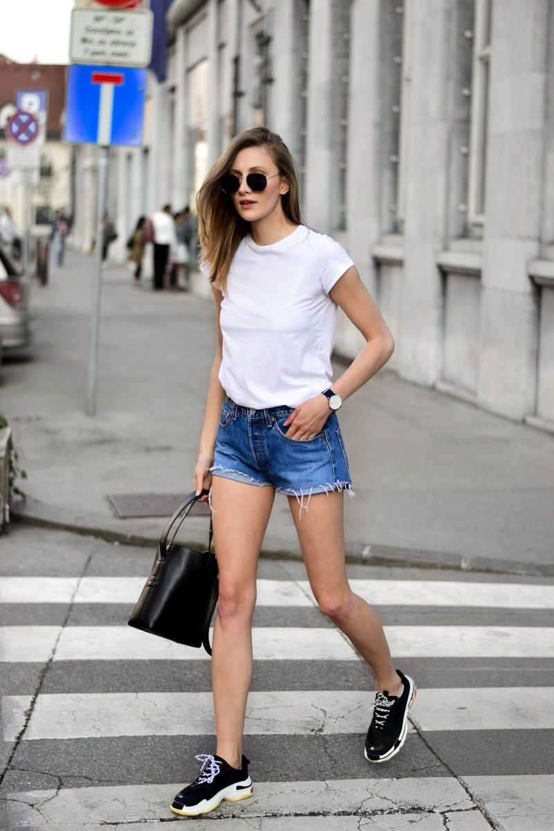 jeans outfit, Shorts outfits women