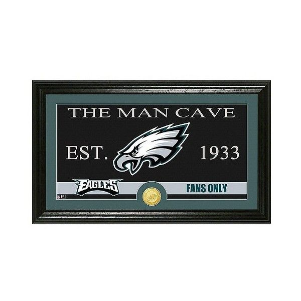 The Highland Mint NFL Man Cave Framed Wall Poster Print Philadelphia... ($76) ❤ liked on Polyvore featuring home, home decor, wall art, philadelphia eagles, mounted wall art, the highland mint, home wall decor, framed wall art and interior wall decor