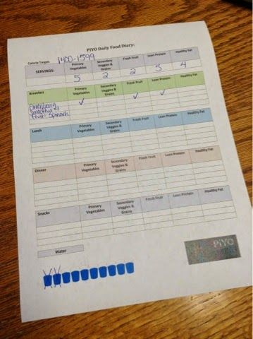 FREE printable #PIYO Food Diary for 60 day Nutrition Plan. #piyoworkout #chalenejohnson