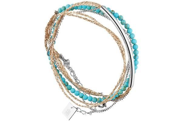 31e0d9b76b6595 Bracelet multi-tour barre en acier   Zag Bijoux   Zag bijoux, Bijoux ...