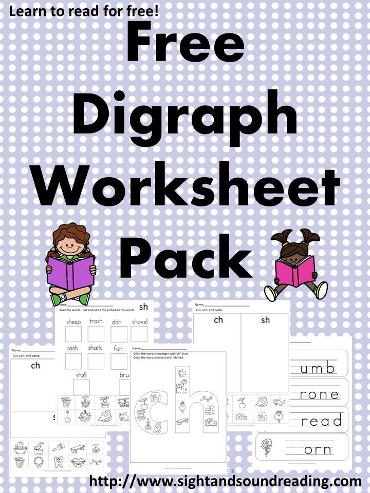 5 Digraph Worksheets - Free th, ch and sh digraph worksheets! | Kind