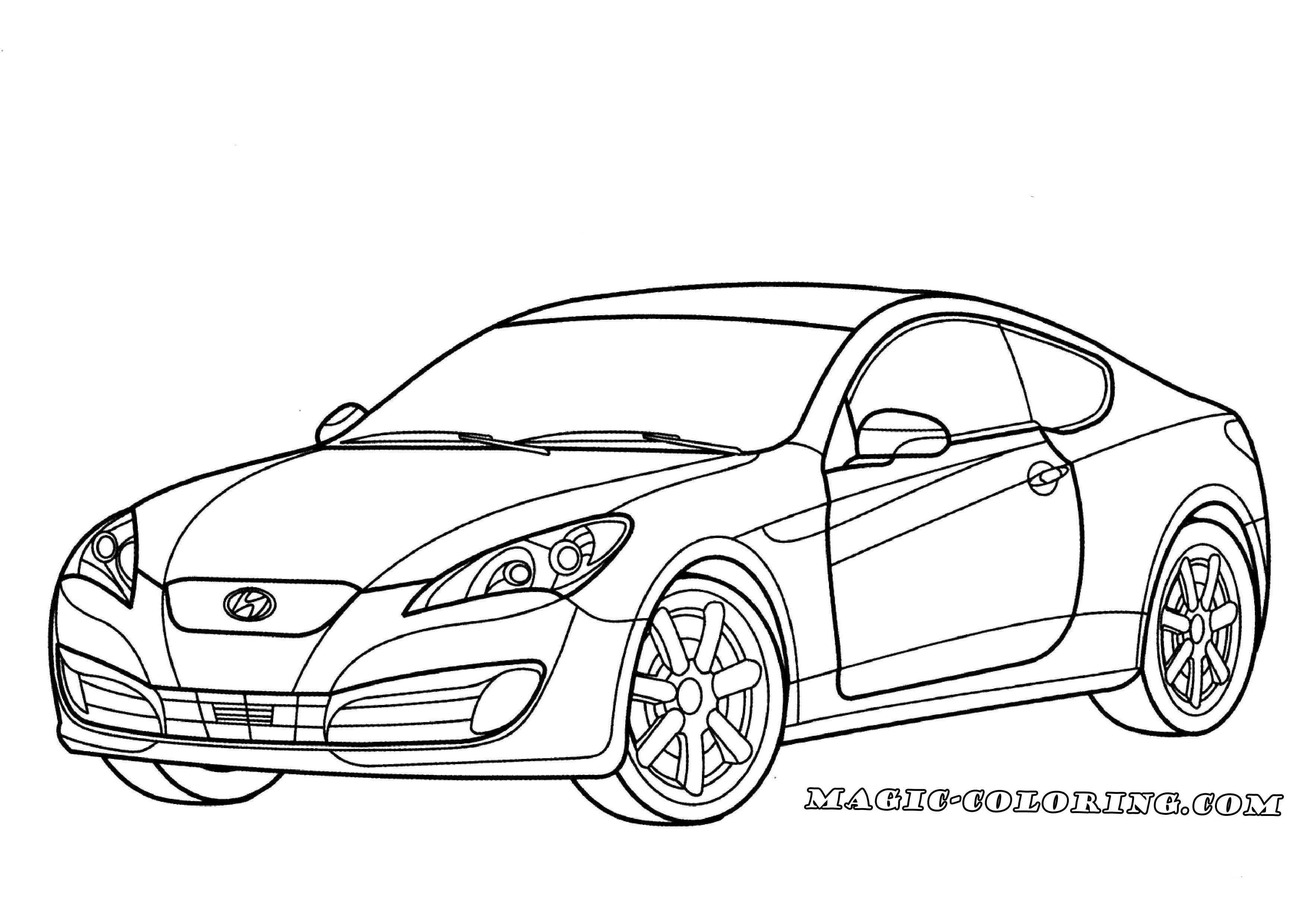 Transportation Coloring Pages With Images Hyundai Genesis