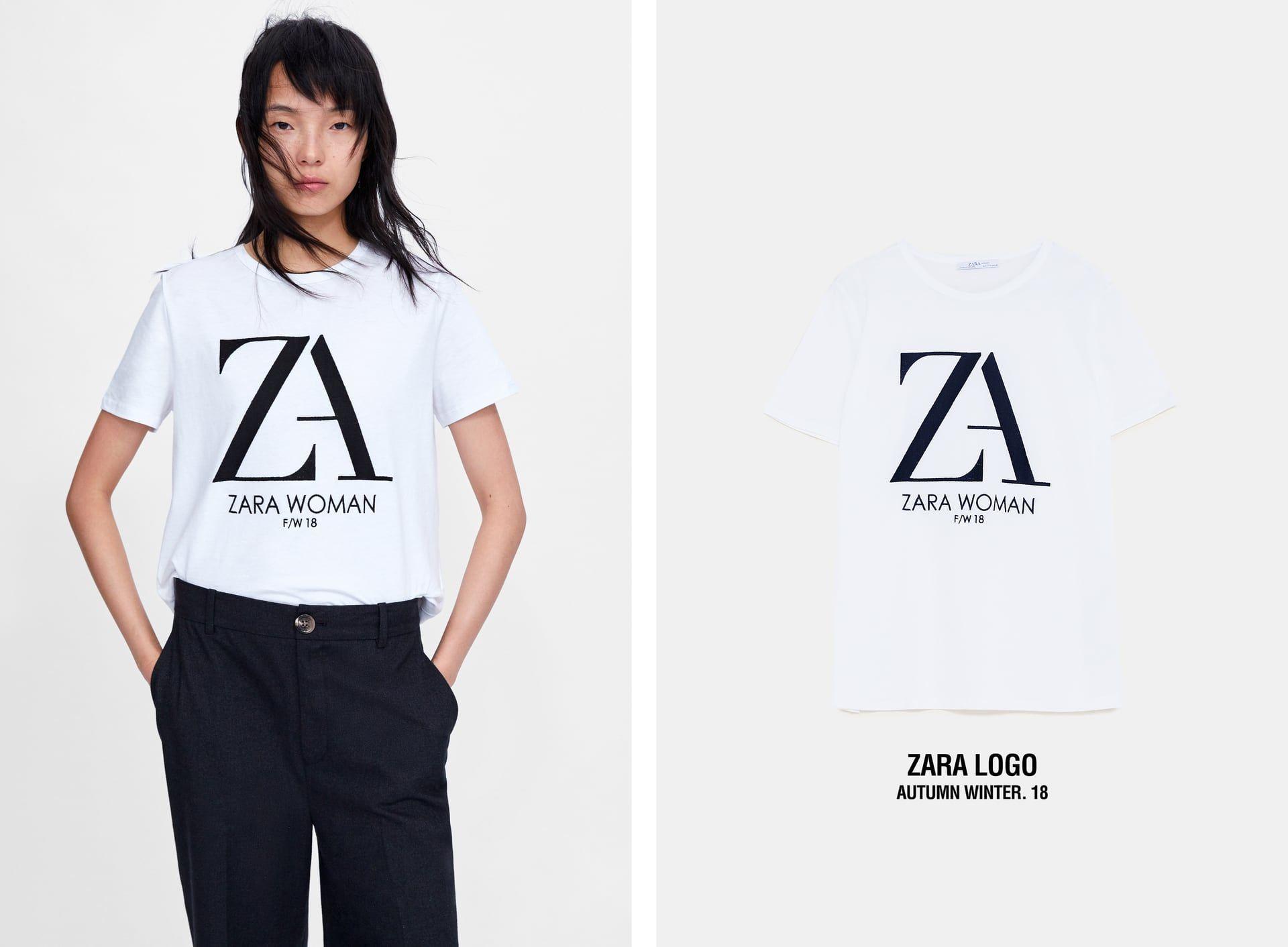 e272ea3f56 ZARA LOGO T-SHIRT | « A T T I R E » in 2019 | Zara logo, Zara ...