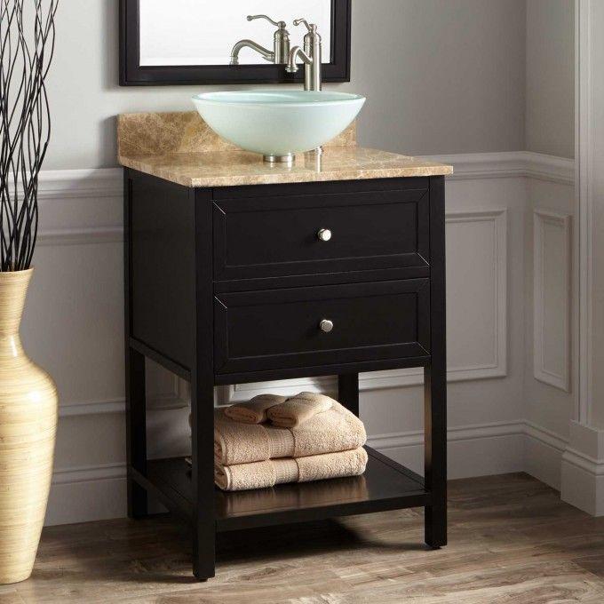 24 Robertson Vessel Sink Vanity Black Bathroom Blackbathroomvanity
