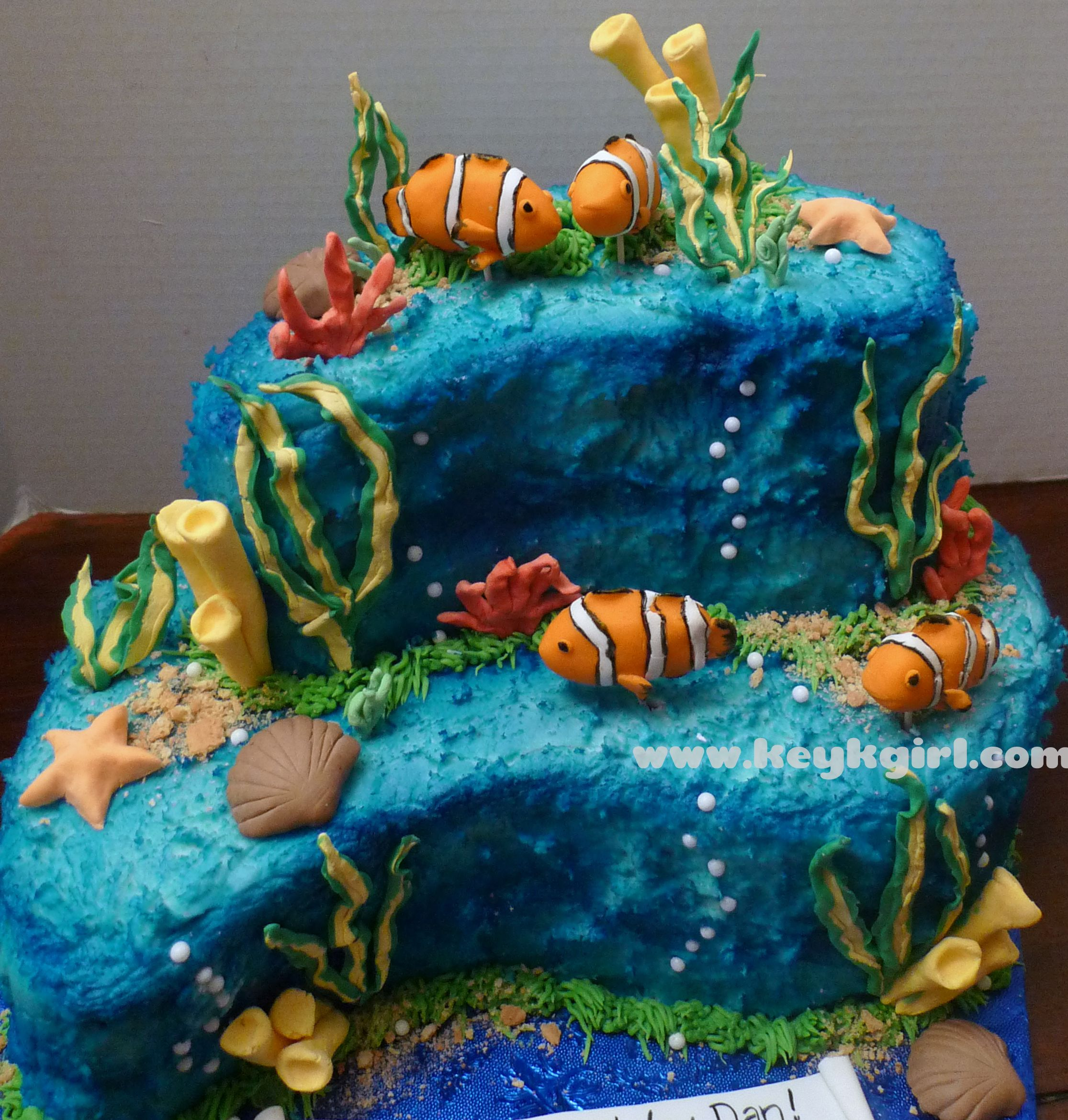 Clown Fish Th Birthday Cake DIY Pinterest  Birthday - Nemo fish birthday cake