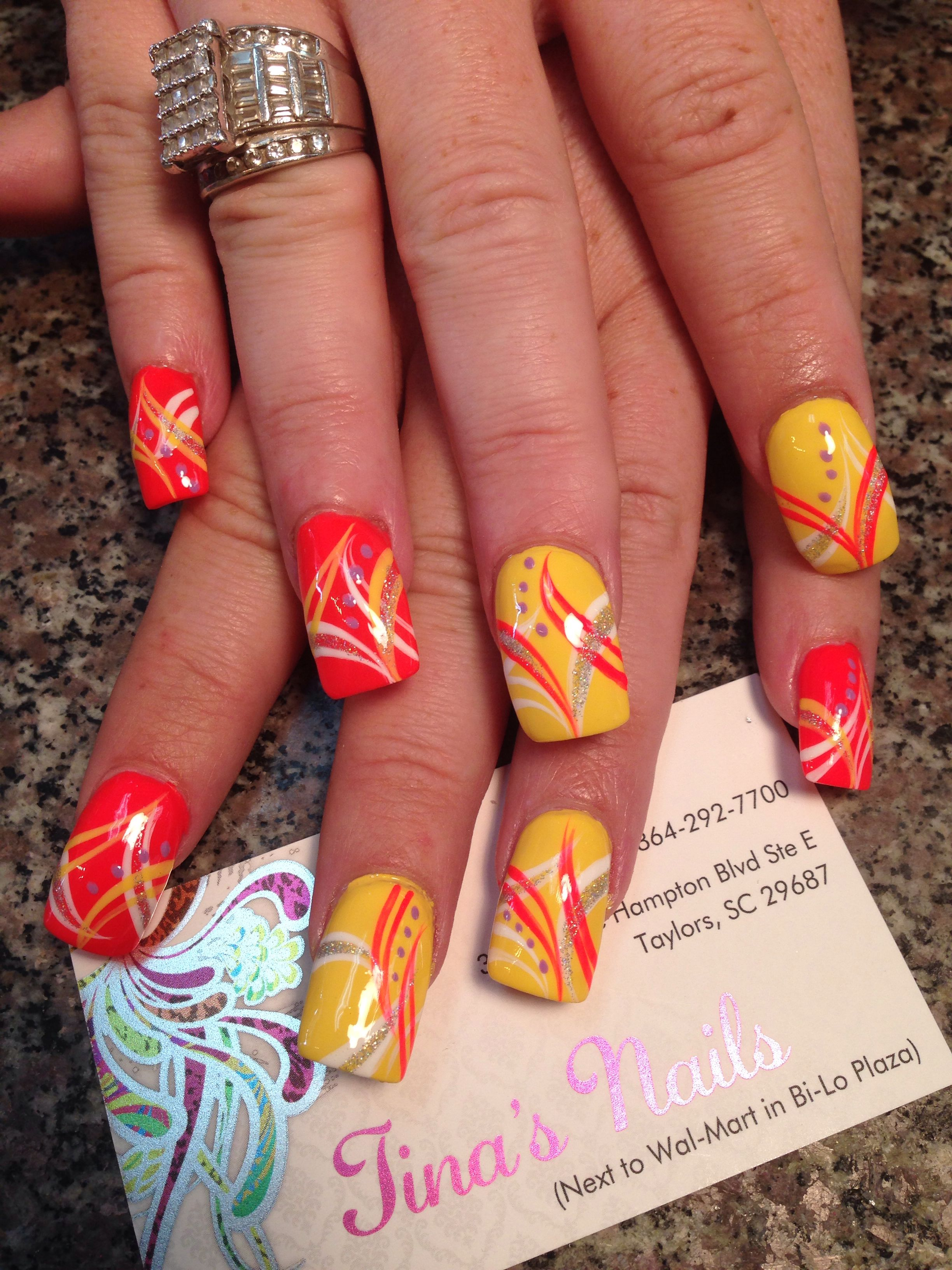Nail design nail art 3d marble freestyle | Tina\'s Nails designs from ...