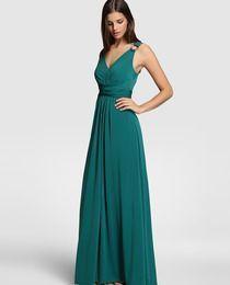 Vestido verde fiesta tintoretto