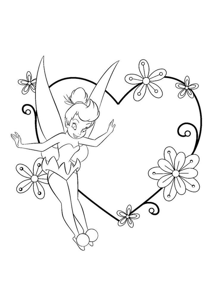 Printable Tinkerbell Coloring Pages For Kids - Free Coloring Sheets Tinkerbell  Coloring Pages, Fairy Coloring Pages, Halloween Coloring Pages