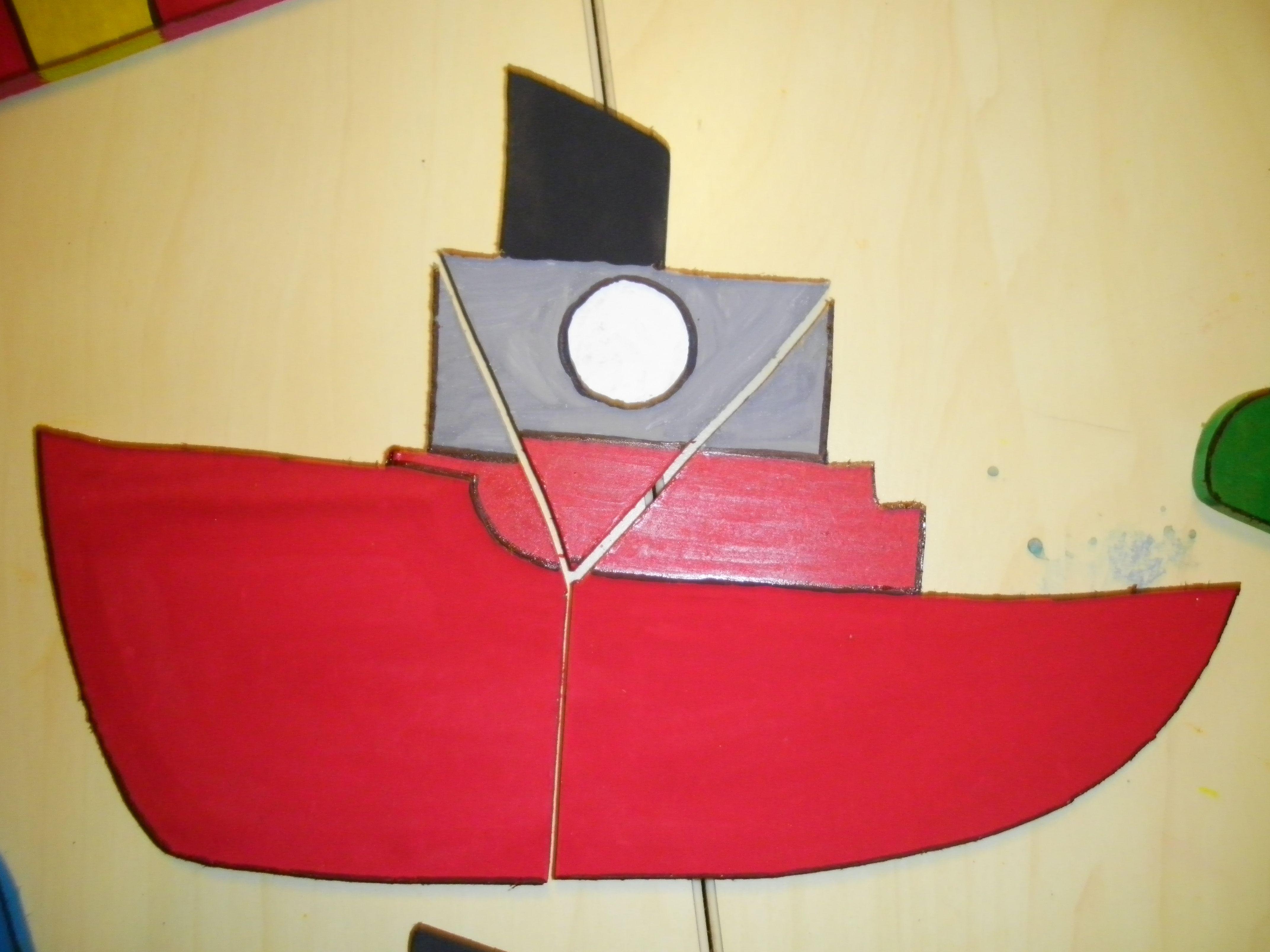 Houten Puzzel Boot 3 Stuks Liestr