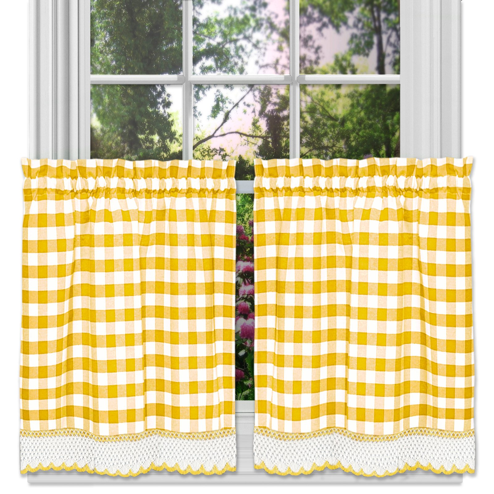 Achim Buffalo Check Window Curtain Tier Pair Kitchen Curtains Curtains Curtains With Blinds