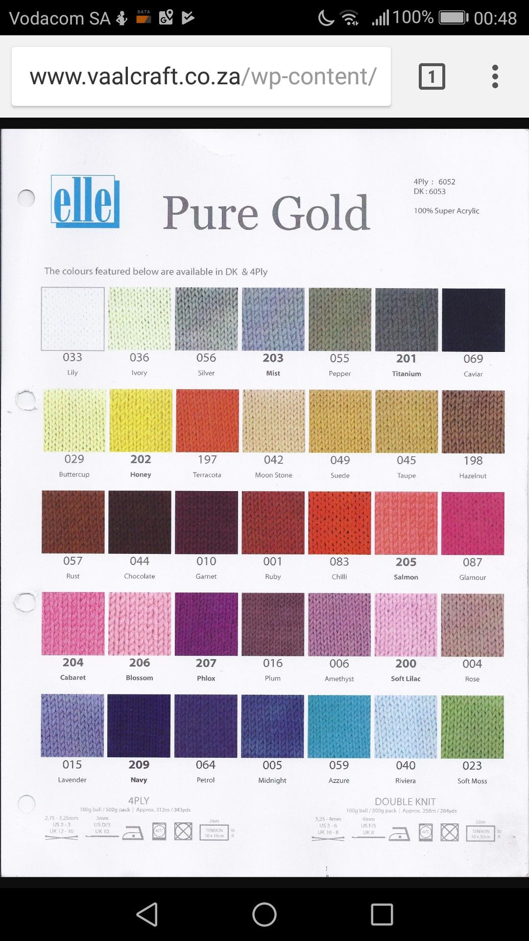 Elle pure gold yarn wool ply or dk color chart products also best beautiful images in colors rh pinterest