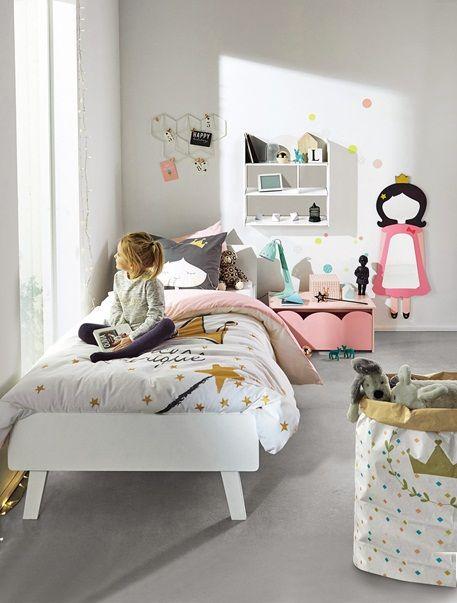 Juego de cama funda nórdica + funda de almohada Princesa BLANCO ...