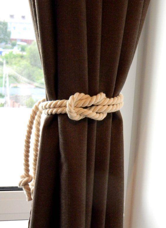 Square Knot Nautical Curtain Tie Backs Beach Decor