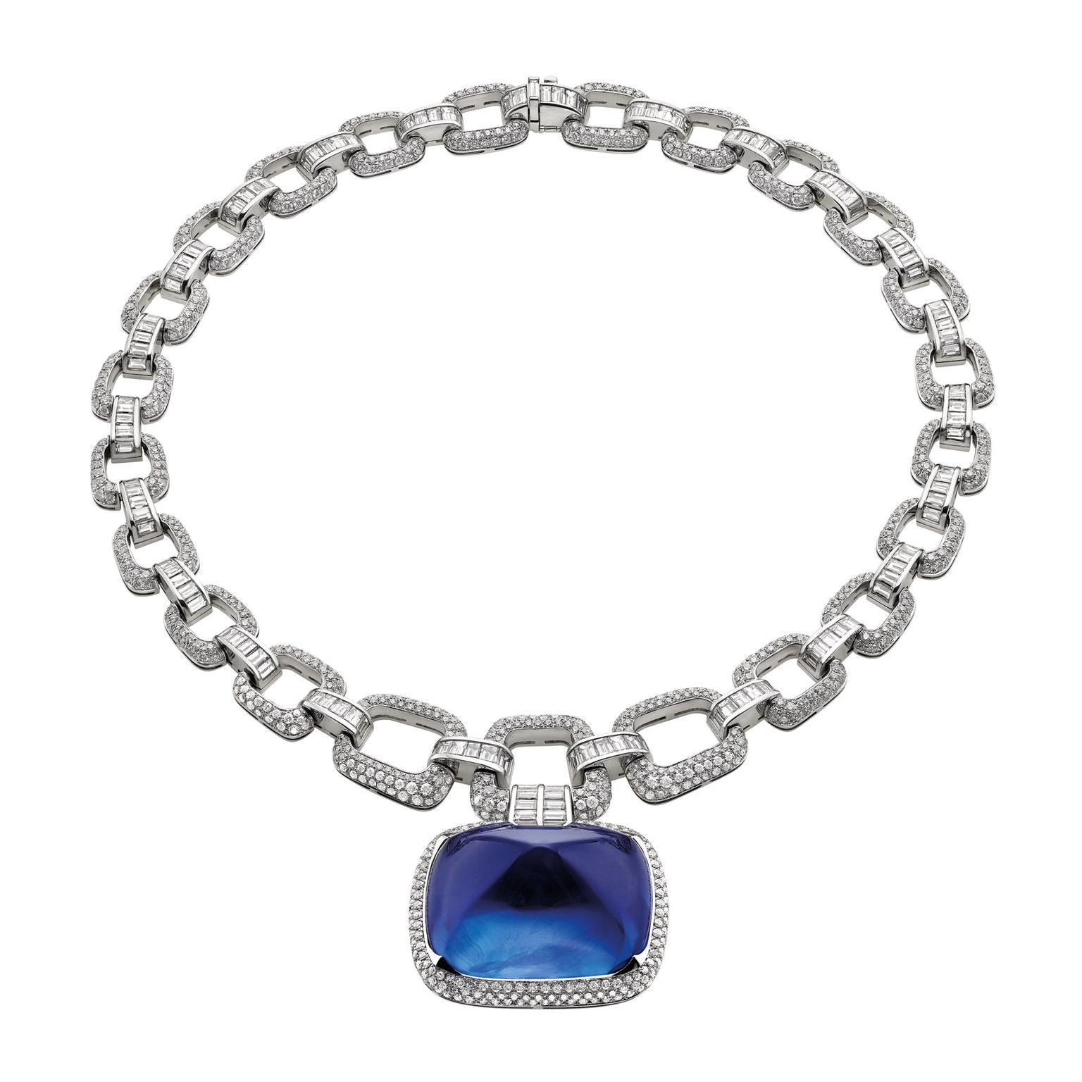 Bulgari S Burmese Cabochon Blue Sapphire Necklace From The