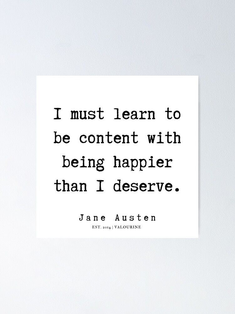 18 | Jane Austen Quotes | 190722 Poster by QuotesGalore