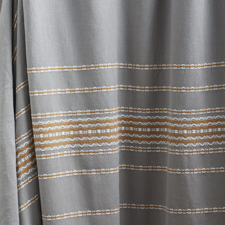Coyuchi Rippled Stripe Pewter Shower Curtain | New House ...