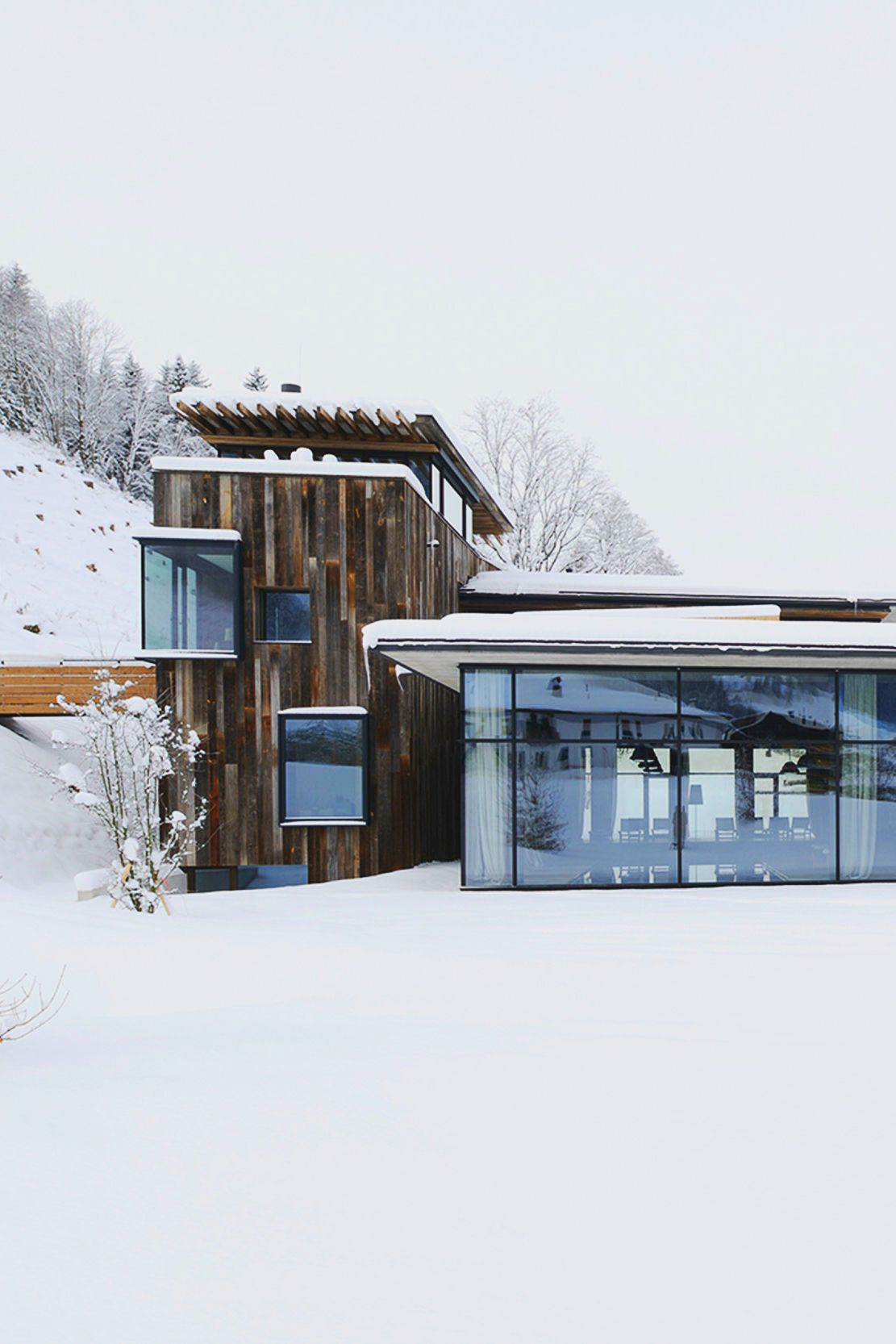 Modern house in the snow | CABINS | Pinterest | Architecture, Modern ...