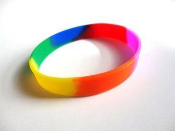 Rainbow pride colors wristband rainbow pride bracelet no text