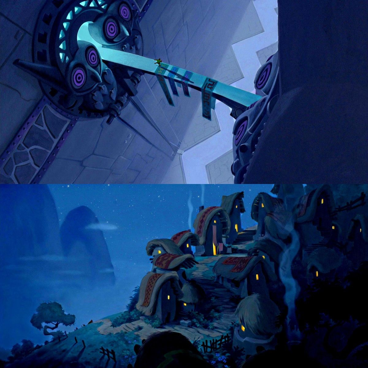 The emperor 39 s new groove composition art environment concept art et emperors new groove - Kuzco dessin anime ...